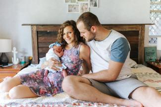 My youngest daughter Whitney and her husband Alex, baby Ella